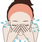洗顔 洗い流す