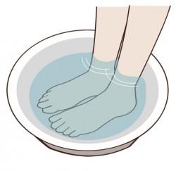 重曹足湯の方法>