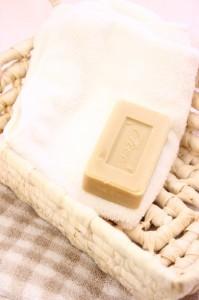 石鹸保存 タオルの上