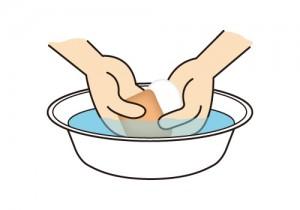 洗面器_パフ洗い