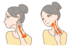 むくみ 首リンパマッサージ (3)