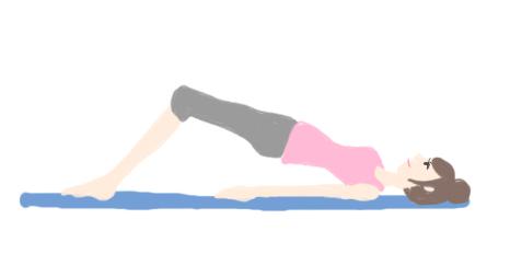 生理痛 緩和 骨盤突出しエクササイズ