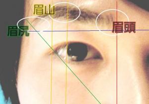 眉毛の画像