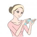 化粧水 つけ方1