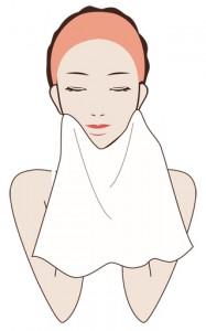 洗顔 顔を拭く