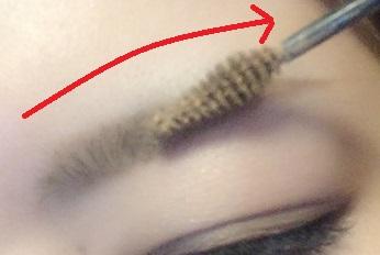 眉マスカラ つけ方3