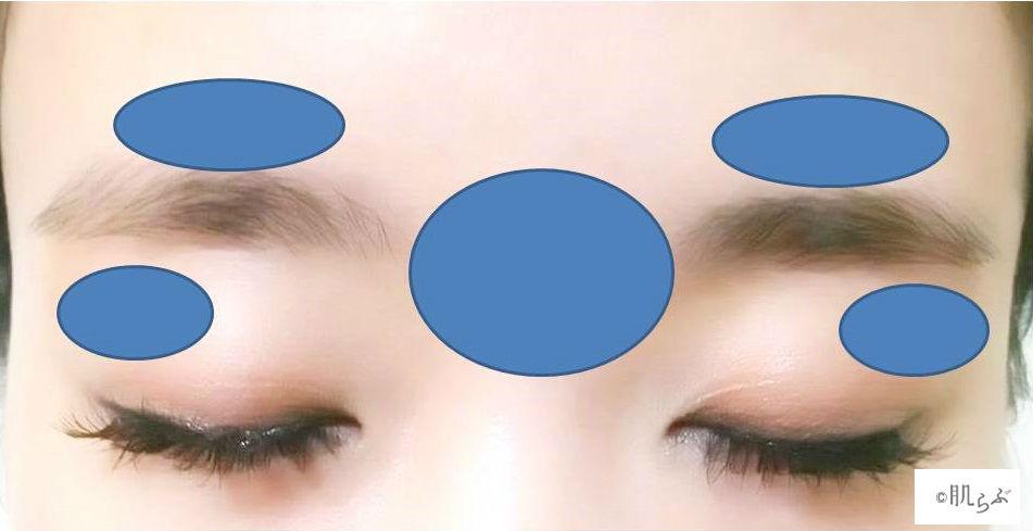 眉周辺の産毛を処理する画像