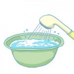 重曹 溶かす 洗面器