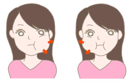 肌くすみ 顔体操2