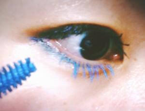 カラーマスカラ 青