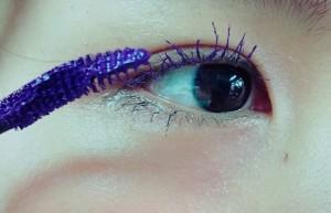 カラーマスカラ 紫