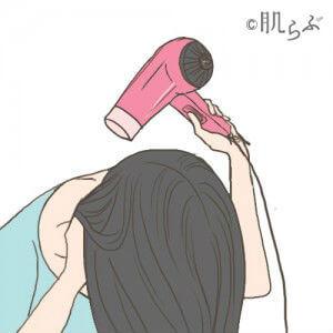 ドライヤー 髪 乾かし方