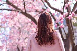 女性 ピンク ロング ヘアスタイル ヘア 髪型 春