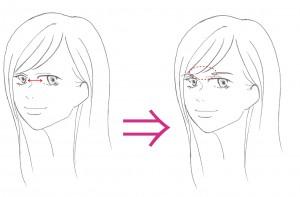 求心的な顔眉毛