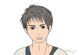 モテ髪 メンズ (丸顔)