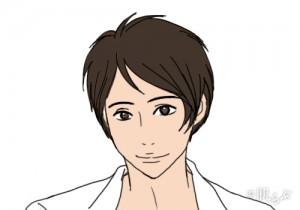 モテ髪 メンズ (逆三角顔)