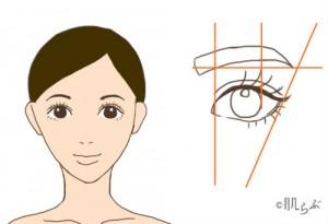 三角形 眉毛 画像