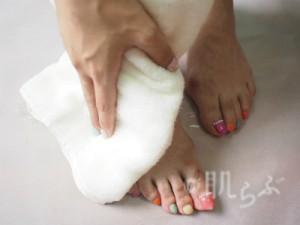 足湯 タオル 足の臭い 消す