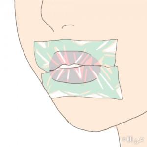 唇 ラップ画像②