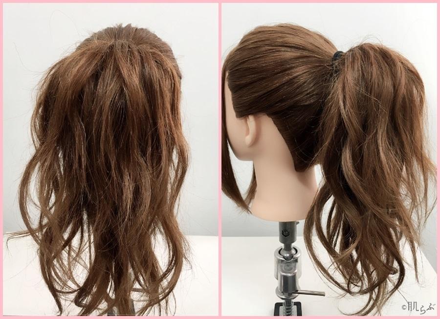 ポニーテール 巻き髪