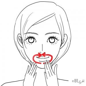 リンパマッサージ 顔 ⑬