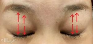 老け顔 特徴_眼輪筋エクササイズ2