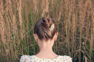 ロングヘア まとめ髪
