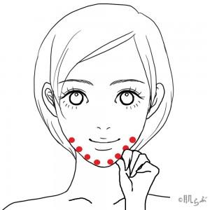 リンパマッサージ 顔 ④