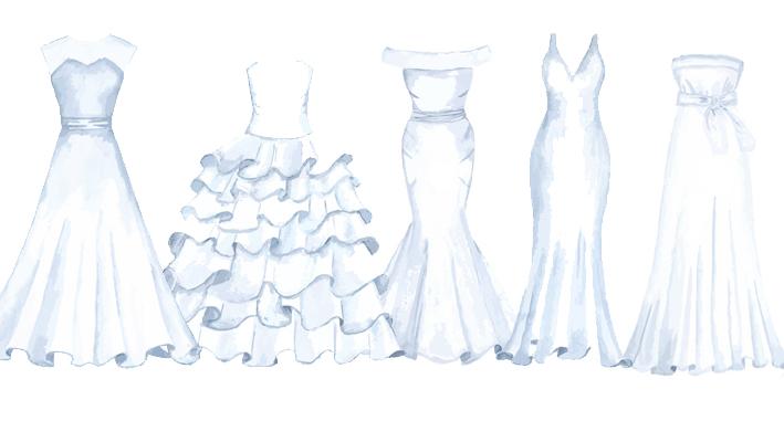 ウェディングドレス 種類