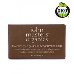 john masters organics (ジョンマスターオーガニック)LRG&YYソープ(ラベンダーローズゼラニウム&イランイラン)