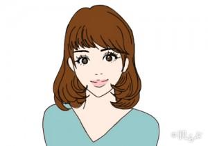 モテ髪 三角顔