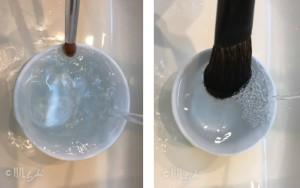 メイクブラシクリーナー 洗い方4