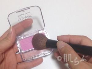 紫チーク 使い方 クリームチーク+セザンヌ1