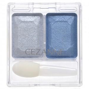 セザンヌ ツーカラー アイシャドウ ラメシリーズ 03 ブルー 水色