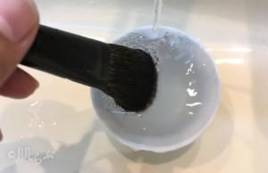 メイクブラシ洗い方 注意1