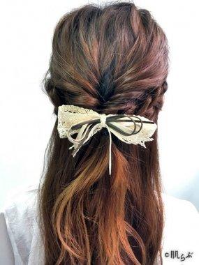 男性が好きな女性の髪型 ハーフアップ