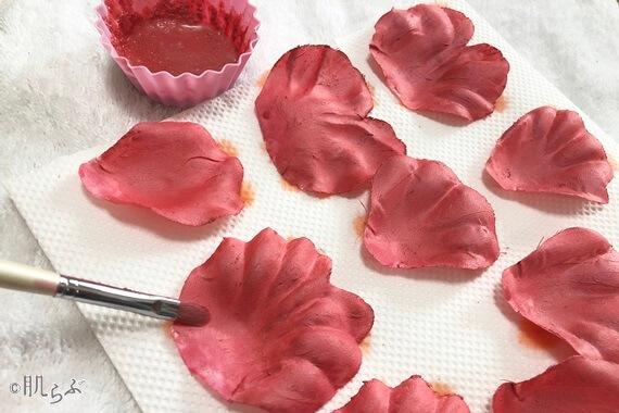 花びらチーク 手作り