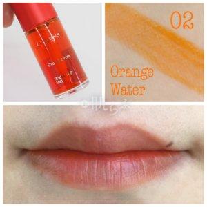 クラランス ウォーターリップステイン 02 orange water