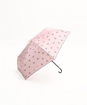 コクーニスト チェリー柄晴雨兼用折りたたみ傘 雨傘