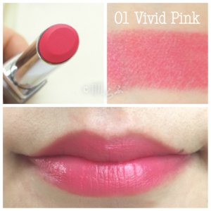 ルナソル エアリーグロウリップス 01 vivid pink