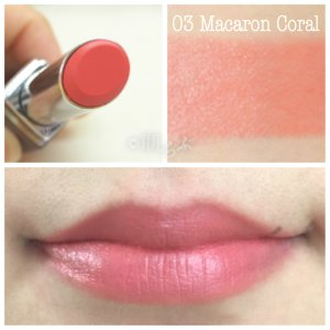 ルナソル エアリーグロウリップス 03 macaron coral