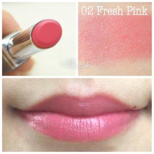 ルナソル エアリーグロウリップス 02 fresh pink