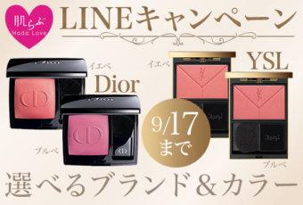 肌らぶプレゼントキャンペーン Dior YSL チーク