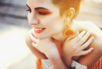 オレンジ アイシャドウ おすすめ 人気 単色 プチプラ