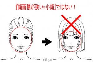 小顔 前髪 イラスト22
