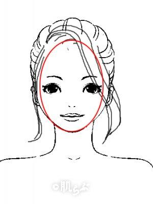 小顔 前髪 イラスト4