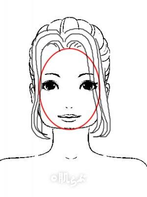 小顔 前髪 イラスト15
