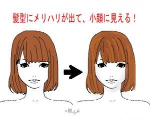 小顔 前髪 イラスト18