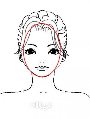 小顔 前髪 イラスト3