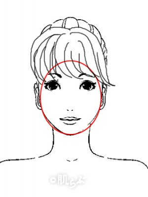 小顔 前髪 イラスト12